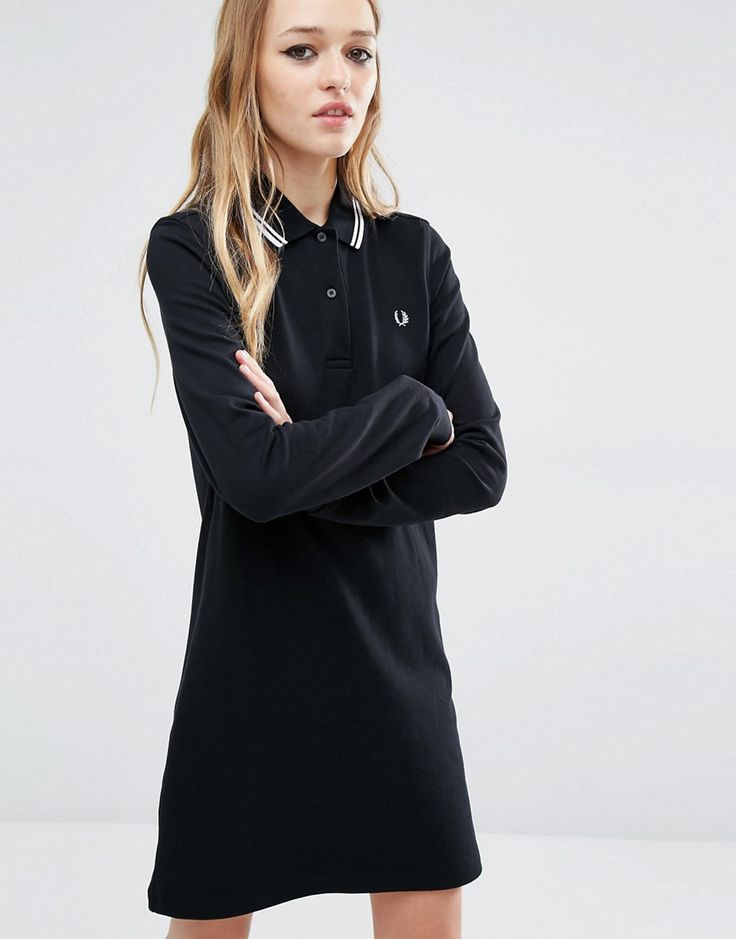 Fred+Perry+Stripe+Collar+Polo+Dress
