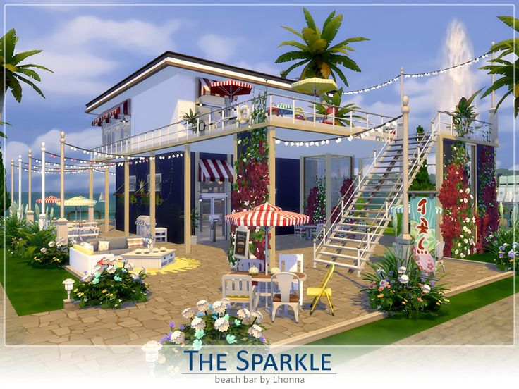 The Sparkle is small but very outstanding bar with excellent view. It is perfect for New Years eve or romantic dates. Its looks great especially at night. Found in TSR Category 'Sims 4 Community...