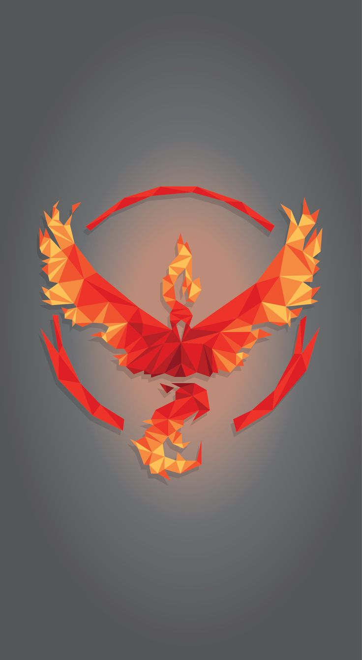 Geometric #TeamValor #PokemonGo Mobile Wallpaper (1363 x 2483)