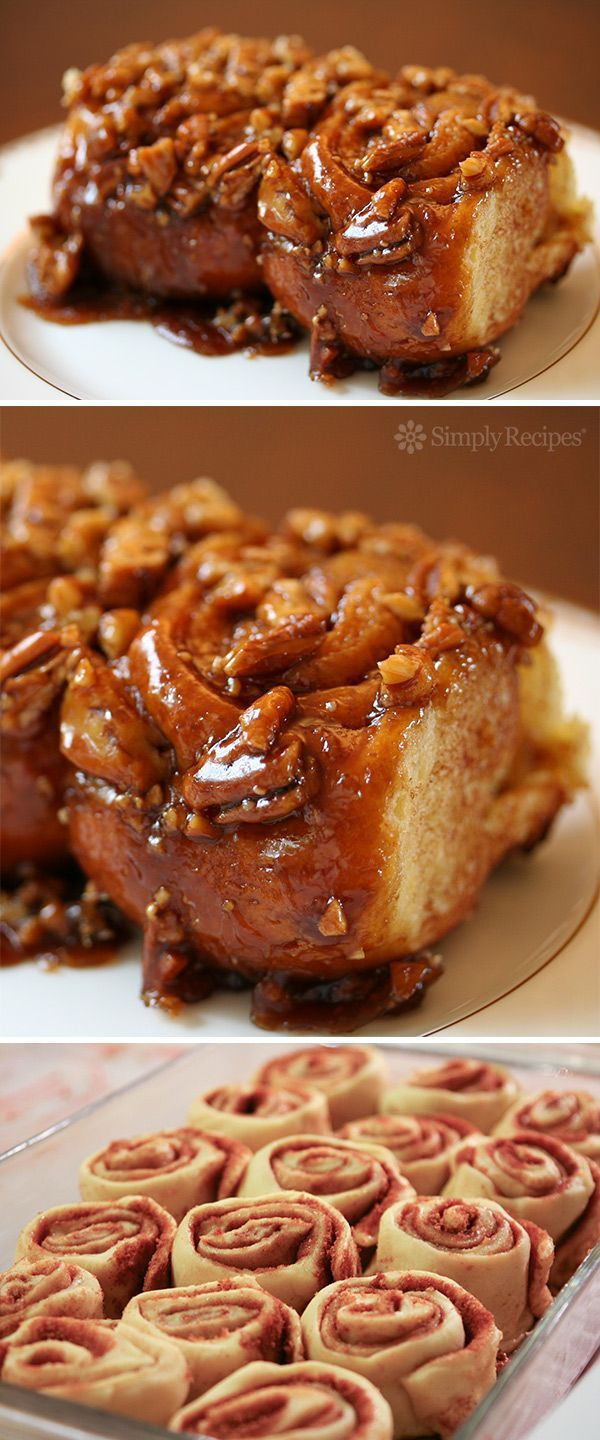 Cinnamon Sticky Buns ~ Cinnamon sweet sticky buns, with melted brown sugar and pecans. So addictive! ~ SimplyRecipes.com
