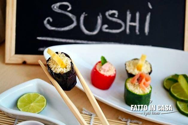 Sushi con il Cous Cous di Fatto in casa è più buono
