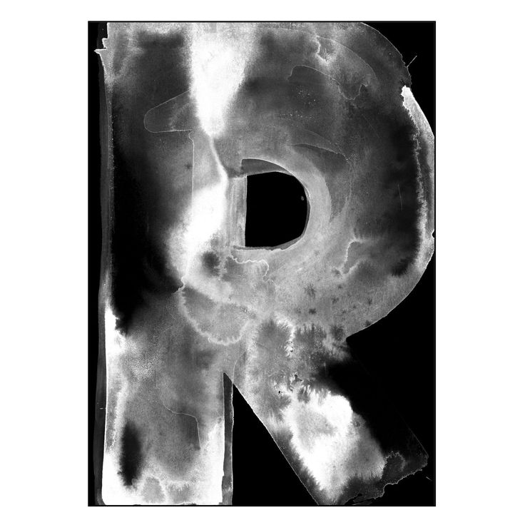 R poster stor, svart i gruppen Posters / Posters / Bokstäver hos RUM21.se (128564)