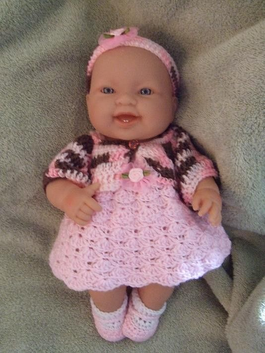 Crochet Pattern for 14 to 15 Inch Berenguer Baby by alcarrico32, USD4.99 Doll...