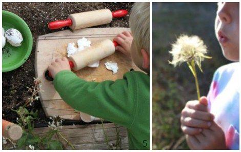 Attività Montessori in giardino e nell'orto