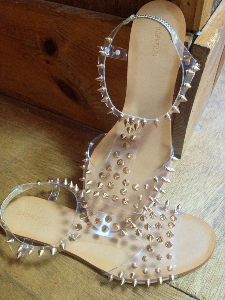 Clear Studded Sandals From Forever21 Shoes Pinterest