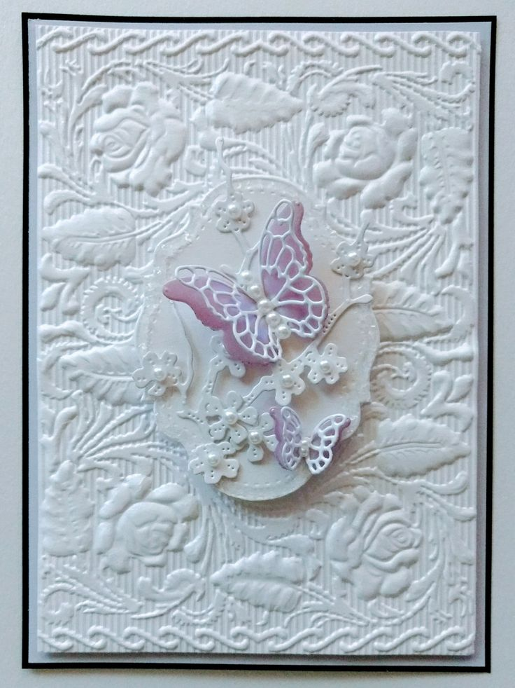Made using Crafters Companion 3D embossing folder.cr aft folder