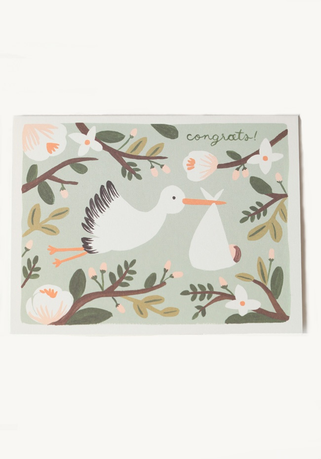 Cute sketch    Congrats Card By Rifle Paper Co. 4.99 at shopruche.com. Congratulate your friend on their new baby with this adorable cream-hued card featuring the message,