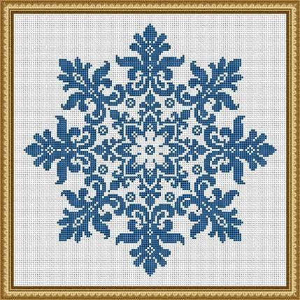 Snowflake Cross Stitch Pattern Floral Snowflake Monochrome Vintage Snowflake Counted Cross Stitch/Filet Crochet Pattern PDF