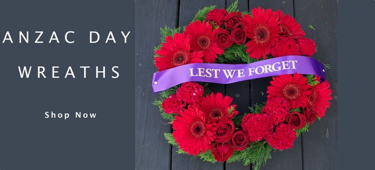 "Anzac Day Wreaths ""Lest We Forget"""
