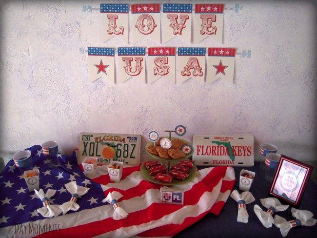 Soirée ou anniversaire USA - Day Moments