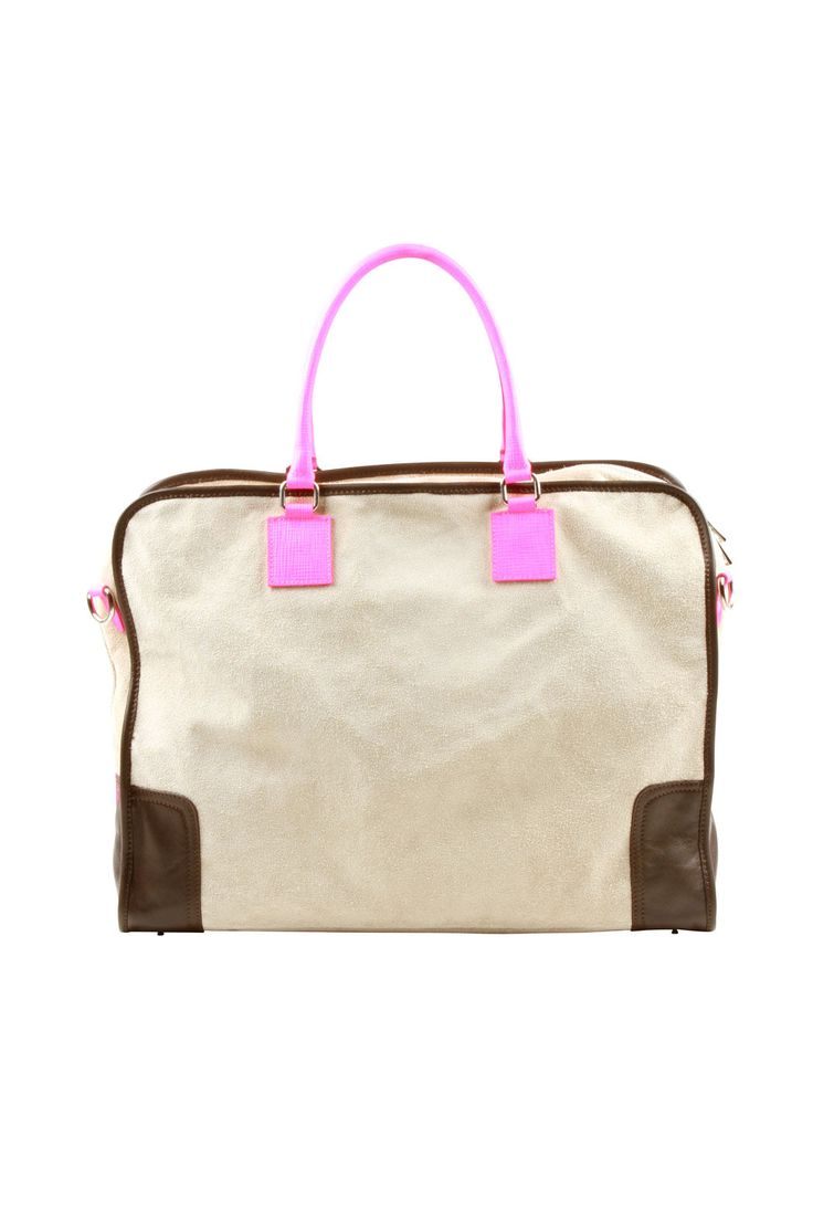 This would be perfect for a weekend away! Or as a carry-on. Large Suede Neon Bag