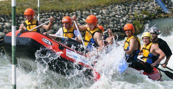 Stag do group, rafting in #bratislava #stagdo