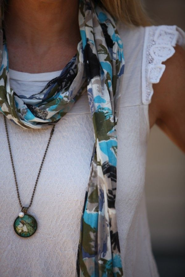 Peacock pendant as featured on Style and Shenanigans.