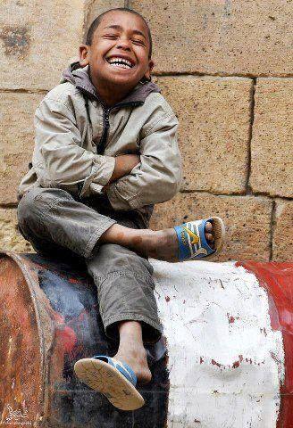 A happy street kid,egypt