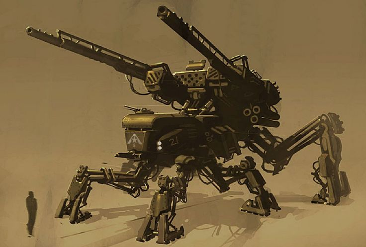 concept robots: Resistance: Fall of Man concept robots by John Wu