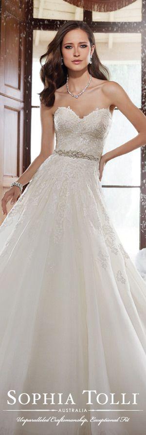 The Sophia Tolli Fall 2015 Wedding Dress Collection - Style No. Y21503 www.sophiatolli.com   #weddingdresses #weddinggowns