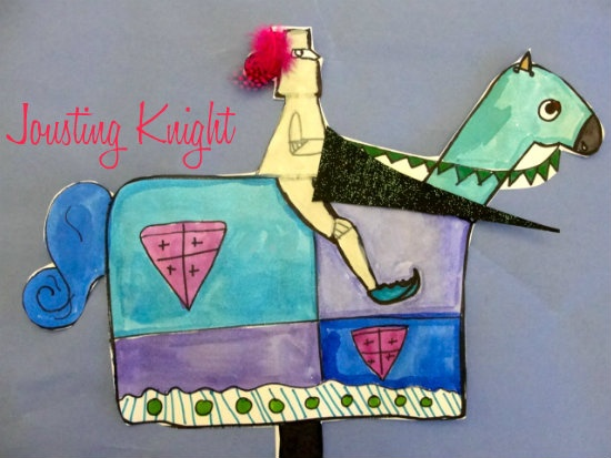 Jousting Knight Middle Ages art project? Deep Space Sparkle