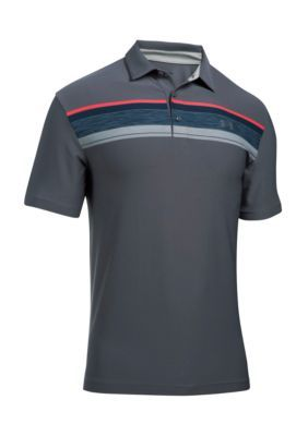 Under Armour Men's Playoff Short Sleeve Polo Shirt - Rhino Gray - L
