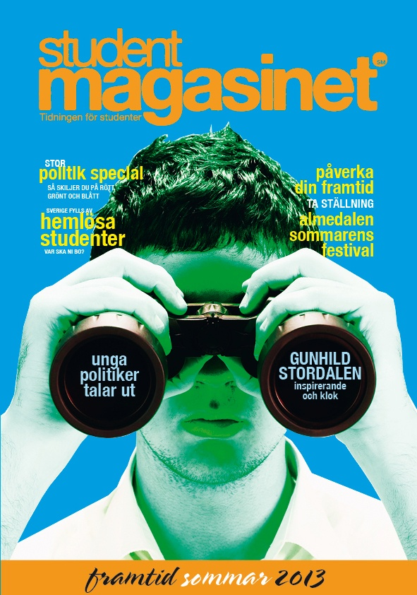 Cover for the magazine STUDENTMAGASINET may 2013