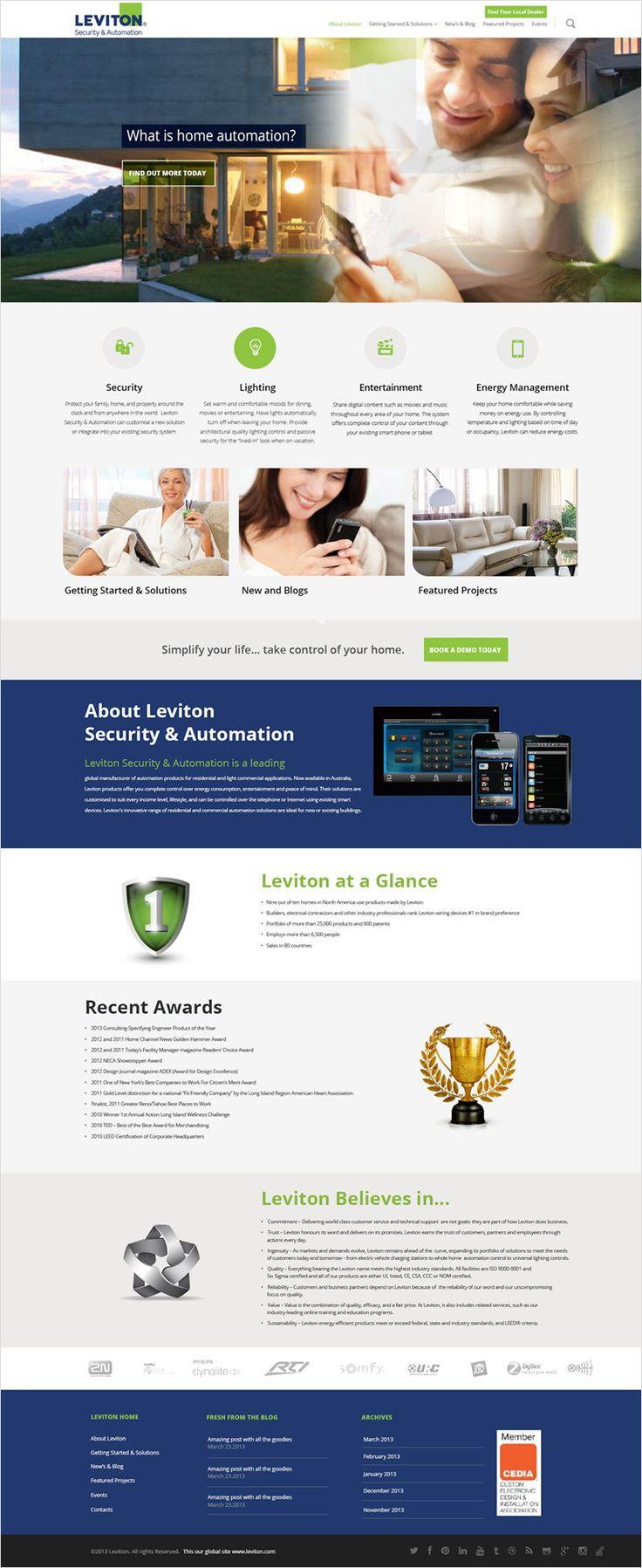 Leviton – Website | Website page | Pinterest | Website and Website ...