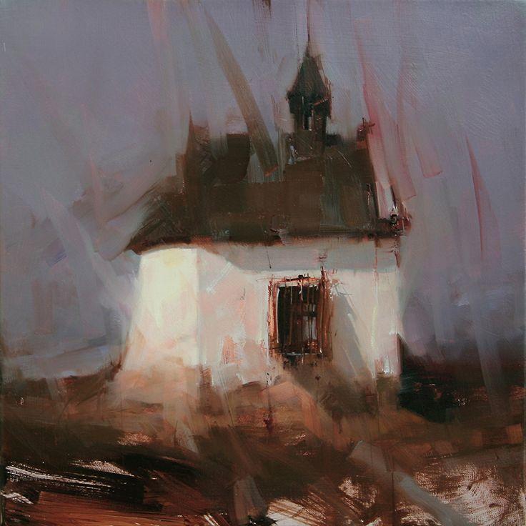Guardian of Light by Tibor Nagy Oil ~ 14 x 14