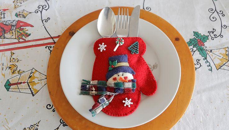 Unos cubiertos bien presentados siempre serán una buena idea para la cena de navidad. Le da elegancia y un toque de magia al compartir con familiares y amigos, ¡inténtalo!