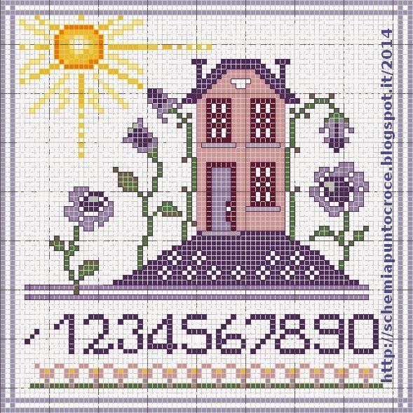 Schemi a punto croce gratuiti per tutti: Piccole case a punto croce