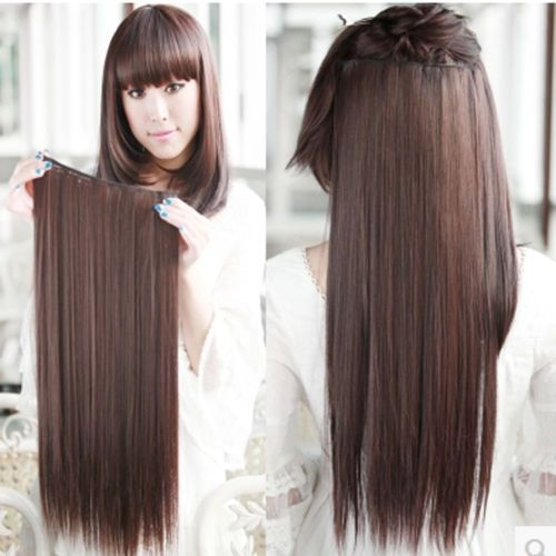 8 best luxy hair extensions images on pinterest fashion black glossy long straight clip in high temperature fibre stylish charming hair extension for women pmusecretfo Choice Image