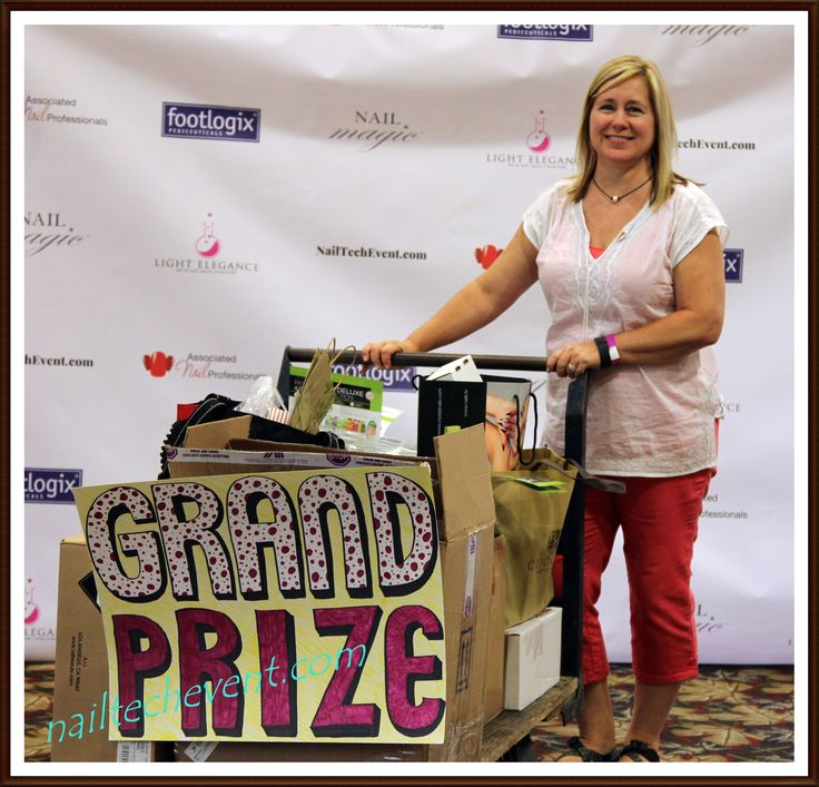The 2016 Grand Prize winner was Kris Goff, who needed a 4 wheel dolly to transport her massive haul!   She won $1500 worth of nail products from www.aiibeauty.com, but also the 12+ unclaimed door prizes from techs who left the show before checking the winning ticket numbers posted at the Registration window!   www.nailtechevent.com #nailtechevent #nailart #gatlinburg