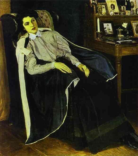 Mikhail Nesterov - Portrait of Olga Nesterova