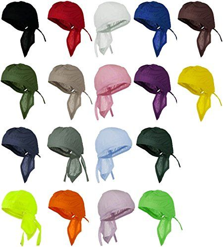Doo Rag 12 Pack of Head Wraps Motorcycle Hats Bandana Skull Caps Buy Caps and Hats http://www.amazon.com/dp/B005VI5P9M/ref=cm_sw_r_pi_dp_sb4pwb0G300NQ