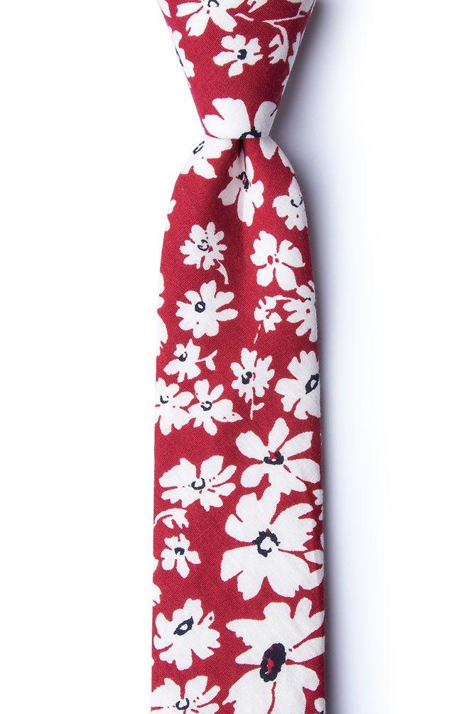 Red Cotton Romeny Skinny Tie Ties Com Skinny Ties Ties Com Tie