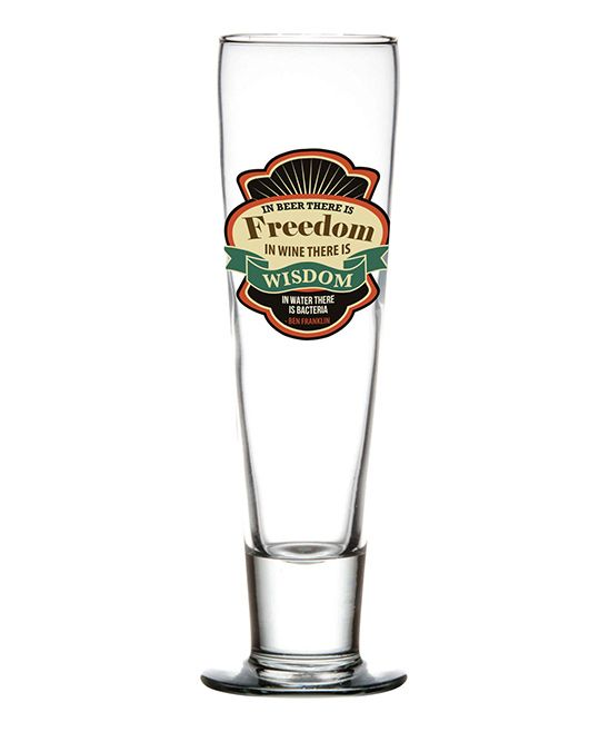 'In Beer There is Freedom' 12-Oz. Pilsner Glass