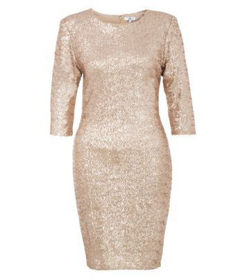 Classic all over sequin dresses are the perfect way to achieving a statement evening look #newlookfashion #sequins #eveningdress