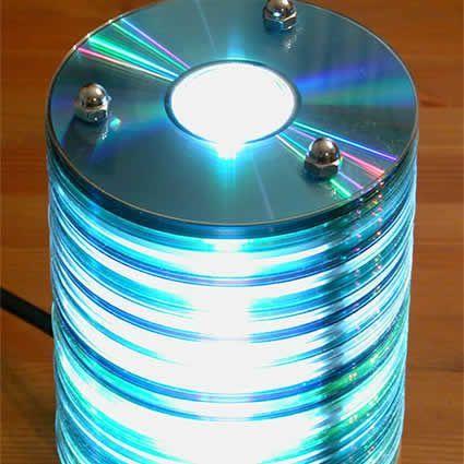 I vecchi cd diventano una lampada. #dicolamia #recycle