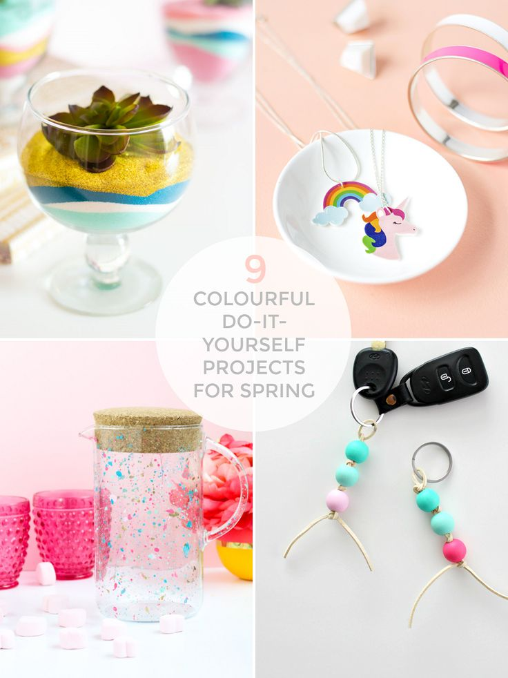 COLOURFUL DIY PROJECTS FOR SPRING