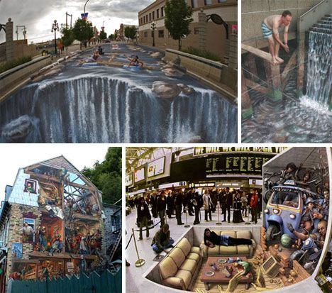 70 works of sidewalk-warping and street-distorting 3D graffitiSidewalk Art, Oustand Street, Funny Pictures, Street Art, Murals Art, 3D Art, Funny Photos, 3D Street, Art Photos