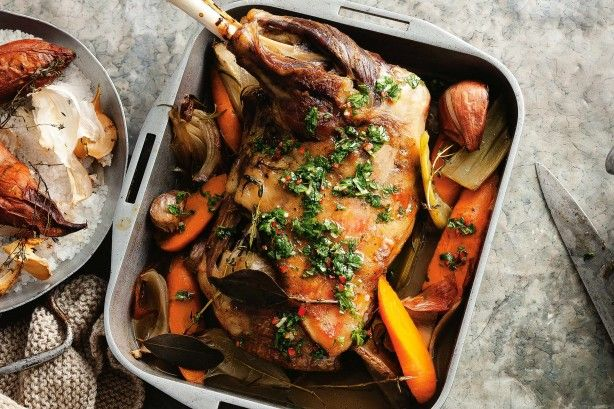 """""""Lamb shoulder is perfect for slow cooking. After 8 hours of braising you get tender, succulent meat that just falls off the bone."""" - Colin Fassnidge."""