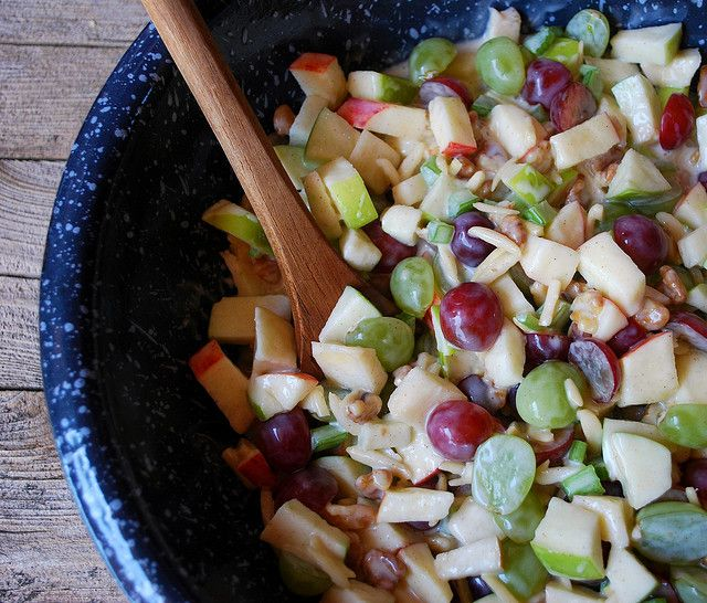 Fall fruit salad. The Cutting Edge of Ordinary: Crunchy Apple & Grape Salad