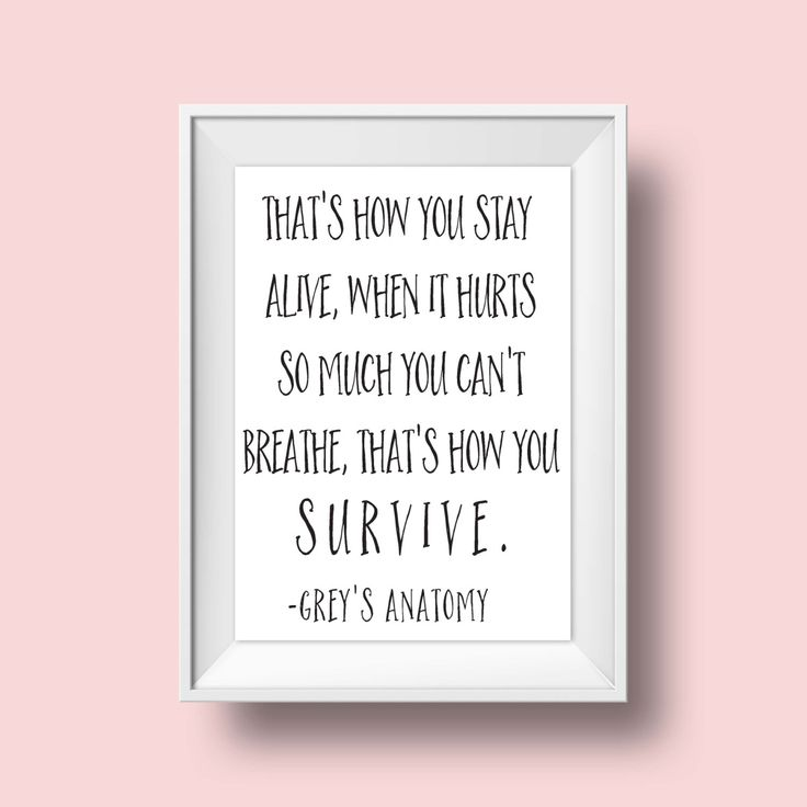Greys Anatomy/Greys Anatomy Quote/Grey' Anatomy Quotes/Meredith Grey/Television Quote/Downloadable Quote/Grey's Anatomy Decor/Greys by QuoteThisOne on Etsy
