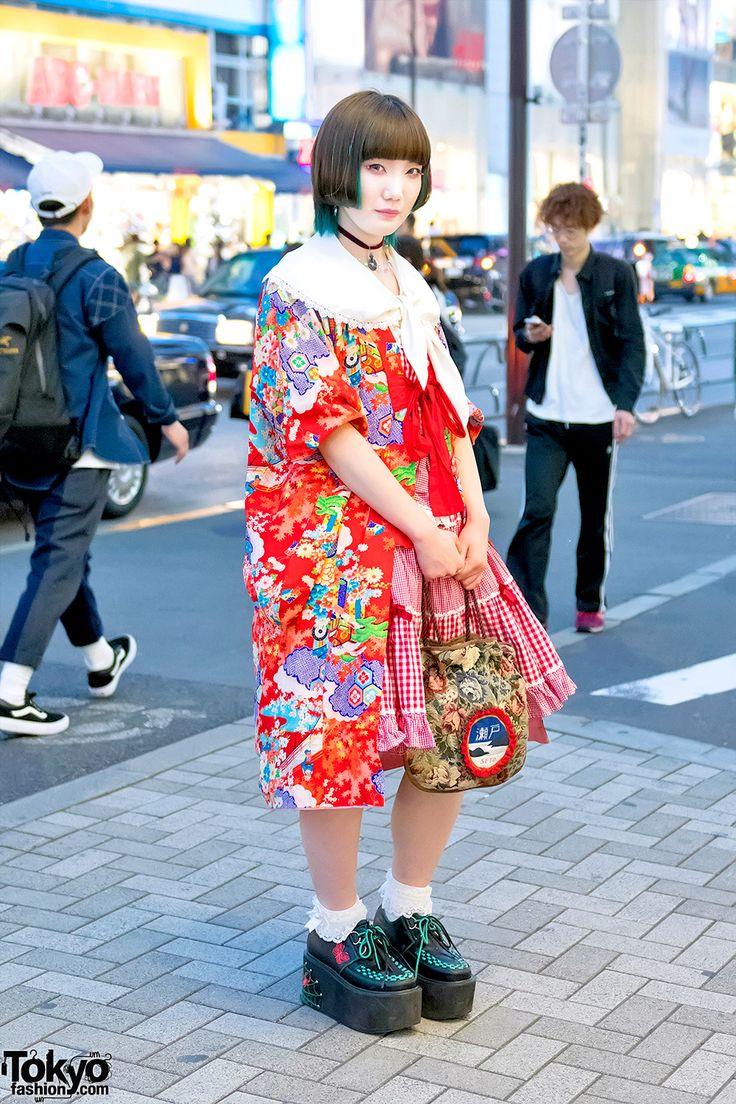 re-purposed vintage Kimono jacket ... Hikaru, 19 years old, student   25 August…