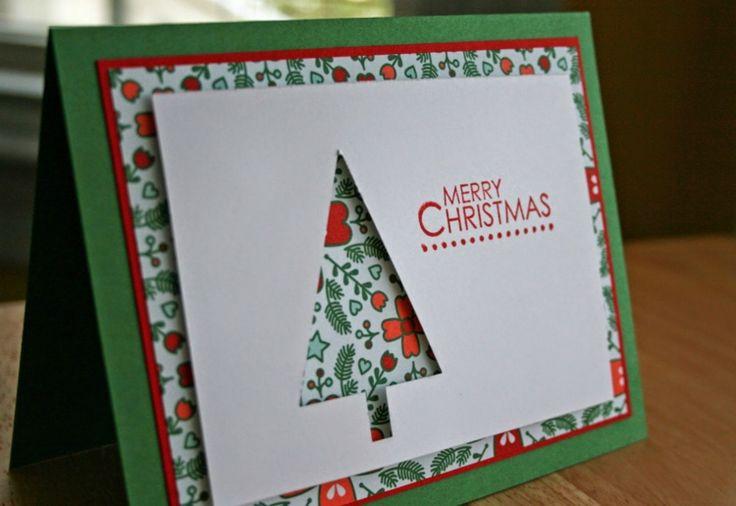 stampin up zu weihnachten weihnachtskarte-basteln-tannenbaum