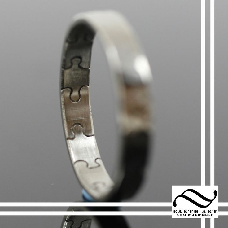 Puzzle piece wedding band. LOVE this...since there were so many pieces to our puzzle and finally found each other!