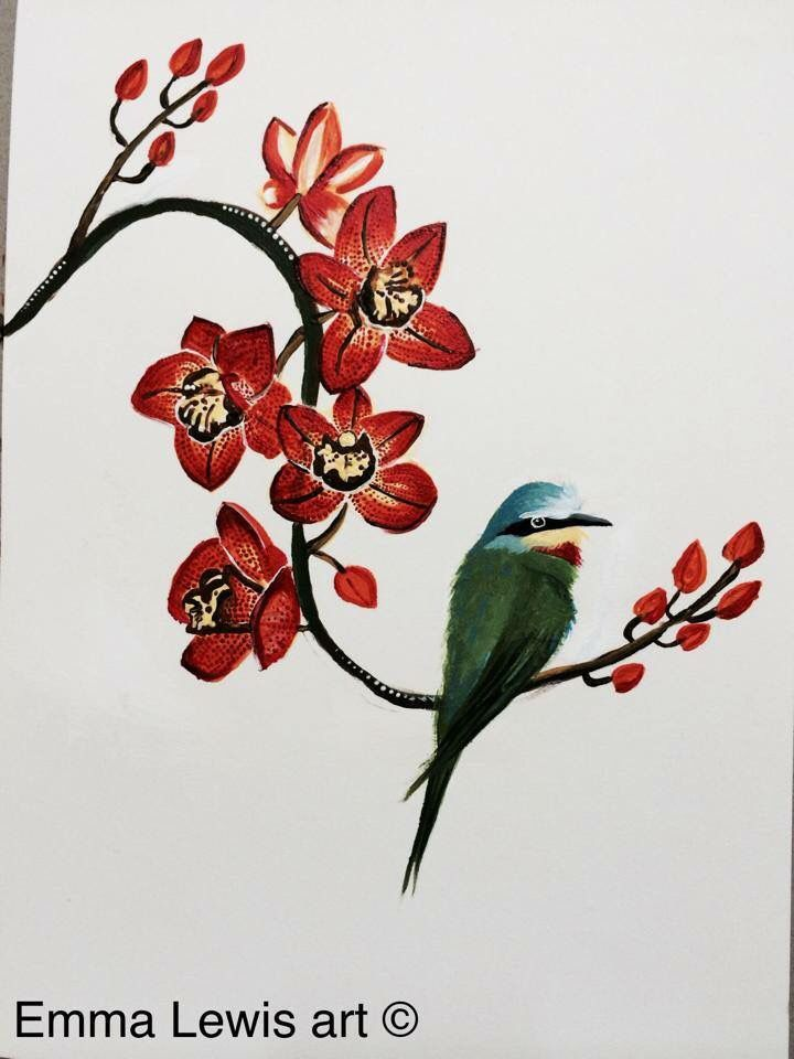 Orchid and a little birdy