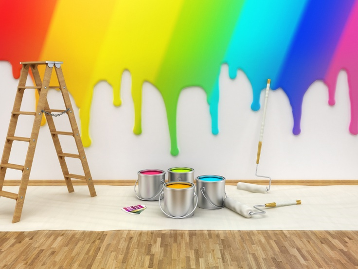 A Rainbow of Wall Paint