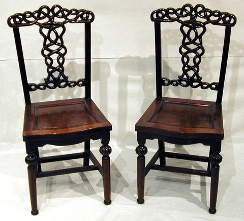 Pair of Chinese Huanghuali ( Rosewood ) Chairs