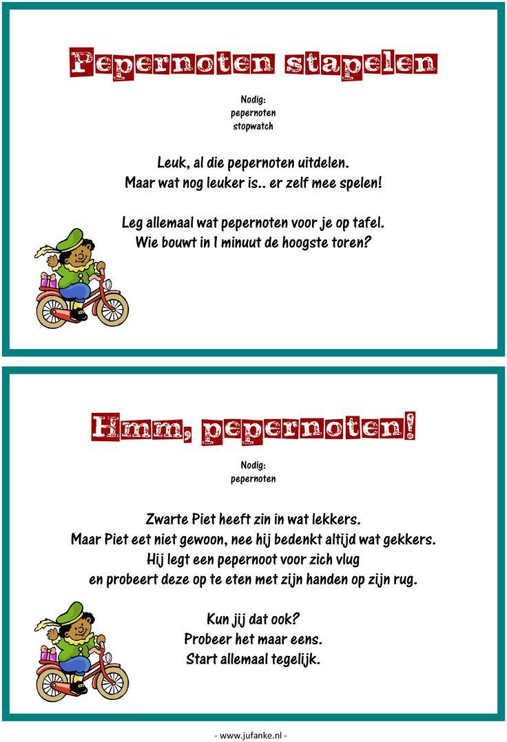Feest: spelletjesmiddag Sinterklaas 3/9