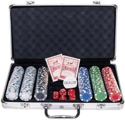 Matela de 300 fichas de Poker não numeradas!