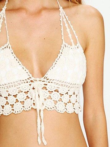 Daisy Crochet Bikini Top from Free People