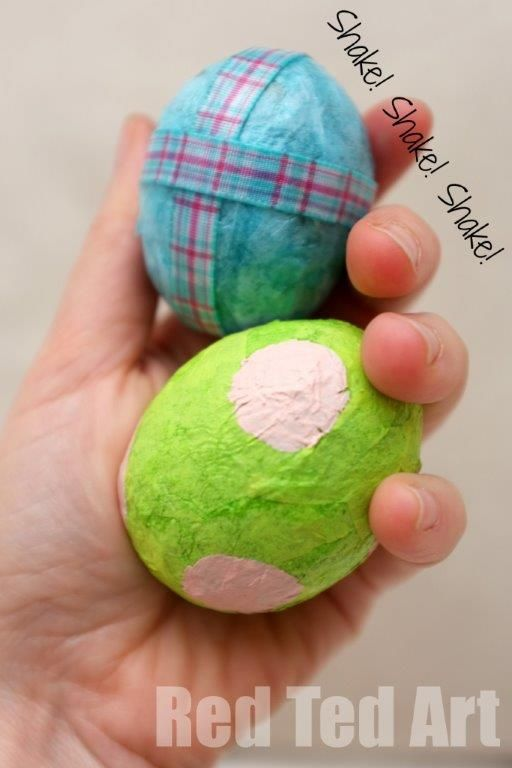 Alternative Easter Gifts - make your own egg shakers. Costs pennies to make!